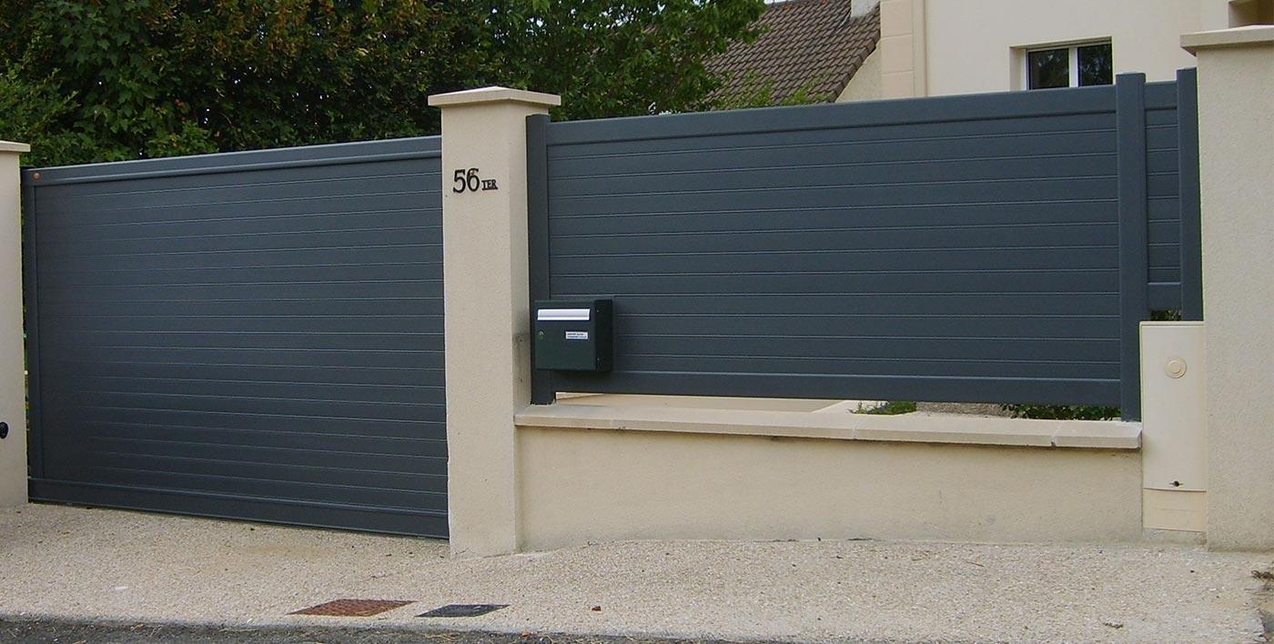 Ensemble portail et clôtures alu